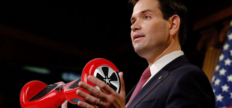 Marco Rubio Announces Plans to Sell Hoverboards at Bayside Marketplace