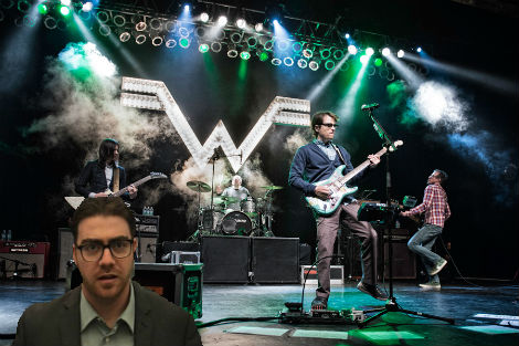 Man Comes To Terms With His Own Mortality During Weezer Concert