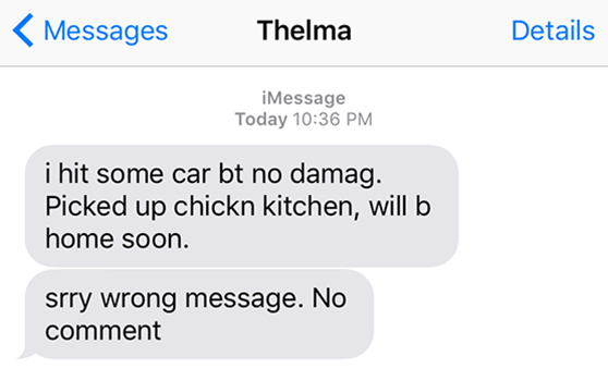 Local Woman Yells At Driver She Rear Ended While Texting