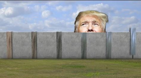 United States Hastily Builds Wall to Keep Trump In Mexico