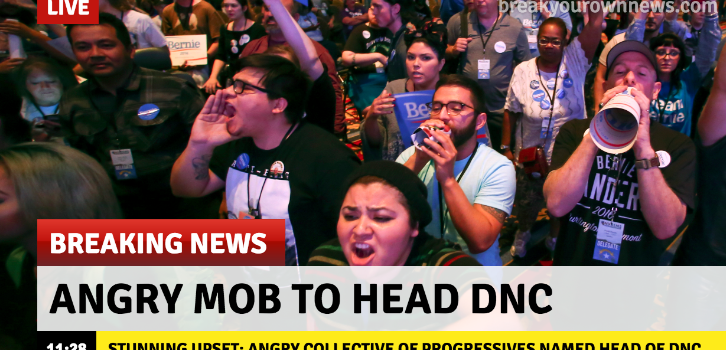 Mob of Angry Progressives Named Head of DNC