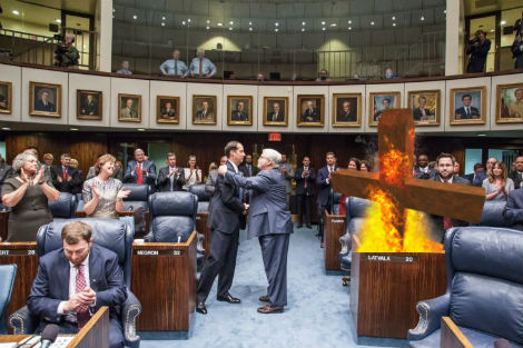 Frank Artiles Resigns From State Senate, To Be Replaced By Giant Burning Cross