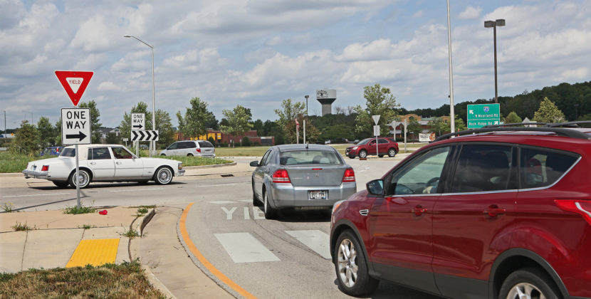 Tourist Stops in Middle of Roundabout to Let Every Car in Existence Enter