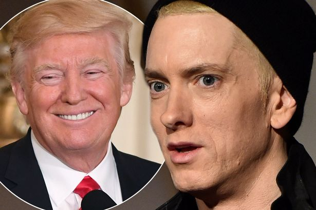 Trump Challenges Eminem to Rap Battle