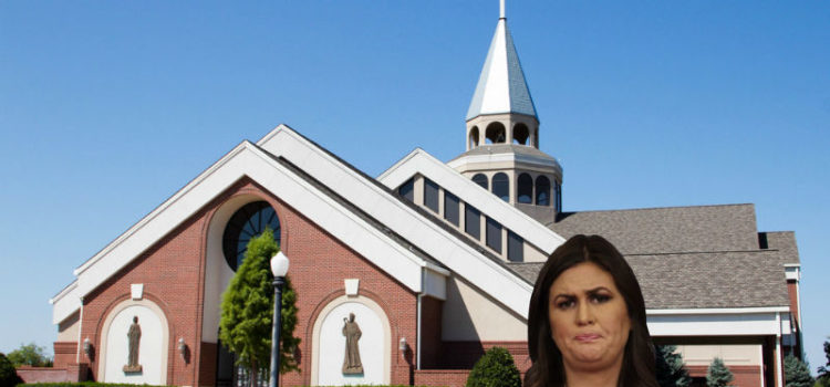 Sarah Huckabee Sanders Denied Entry To Church