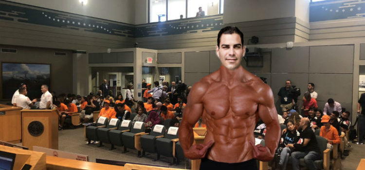 Shirtless Francis Suarez Asks Commission To Approve Strong Mayor Referendum