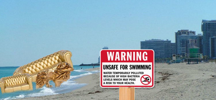 Local Fecal Swimming Advisory Linked To Discarded DJ Khaled Furniture