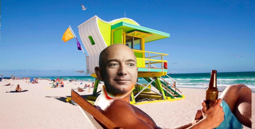 Amazon Picks Miami As Location For Executive Party Celebrating Picking Virginia and NY as New HQ Site