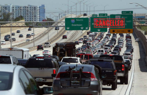 Endless Art Basel Traffic Jam Not Banksy Installation Says City