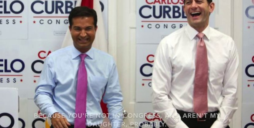 Carlos Curbelo Loves Taking Your Healthcare Coverage
