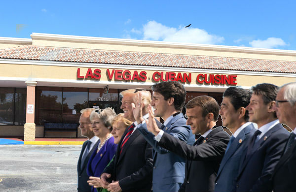 G7 Summit Relocated To Las Vegas Cuban Cuisine's Party Room