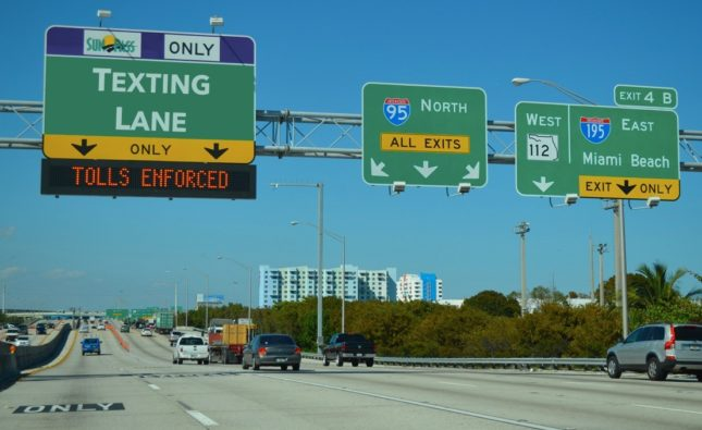 "Miami-Dade to Create Freeway ""Texting Lane"" To Accommodate Millennial Drivers"